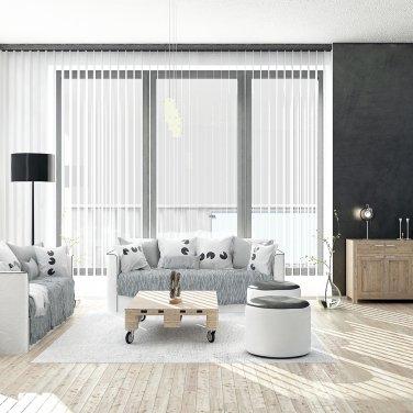 Вертикальные жалюзи 0225; ширина полосы 89мм, алюминиевые