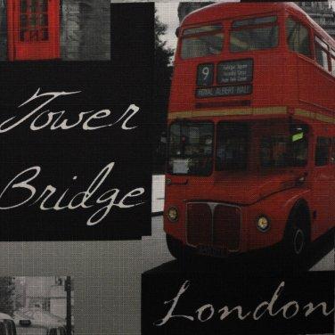Портьерная ткань Print London рисунок