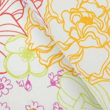 Ткань для рулонных штор с цветами 3821 и 3823